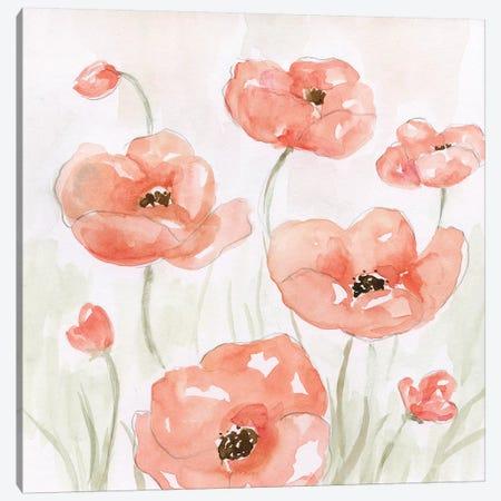 Spring Poppies II 3-Piece Canvas #NAN354} by Nan Art Print