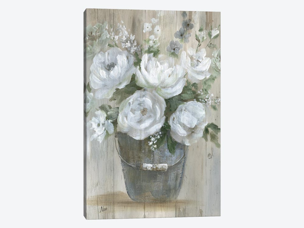 Wild Roses by Nan 1-piece Canvas Art Print