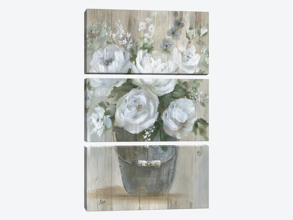Wild Roses by Nan 3-piece Canvas Print