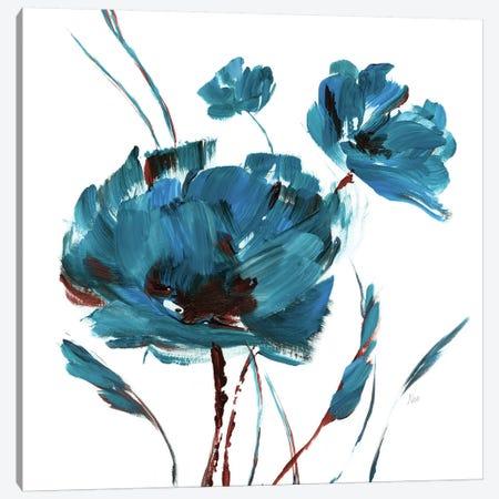 Blue Poppy Splash II Canvas Print #NAN374} by Nan Canvas Art Print