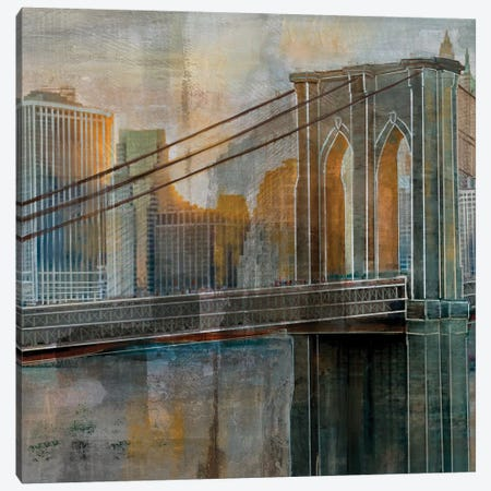 Brooklyn Bridge Canvas Print #NAN376} by Nan Canvas Print