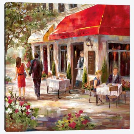 Café Afternoon II Canvas Print #NAN378} by Nan Canvas Wall Art