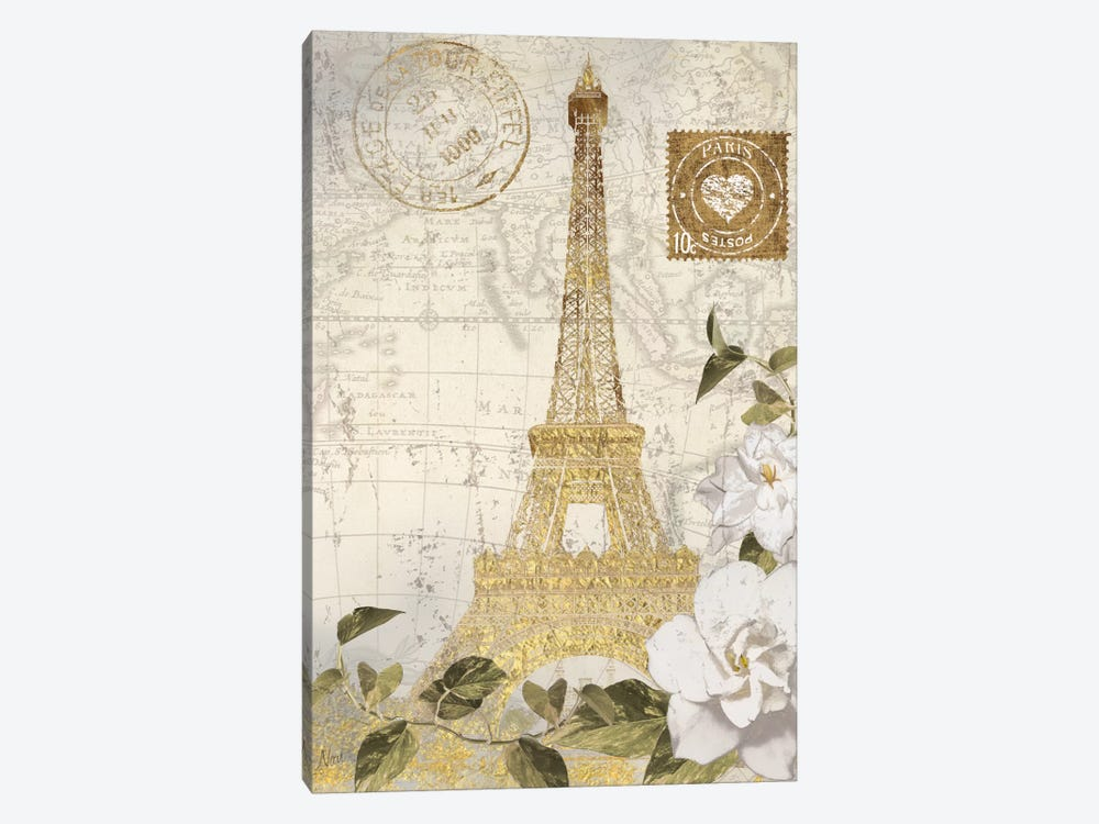 J'aime Je Vis by Nan 1-piece Canvas Artwork