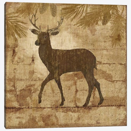 Country Deer Canvas Print #NAN385} by Nan Canvas Wall Art