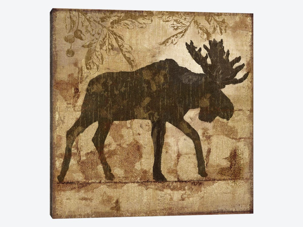 Country Moose by Nan 1-piece Canvas Artwork