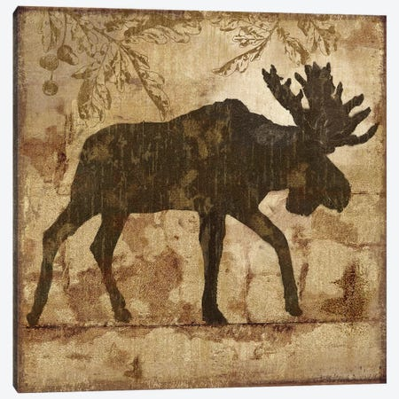 Country Moose Canvas Print #NAN386} by Nan Canvas Art