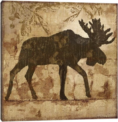 Country Moose Canvas Art Print