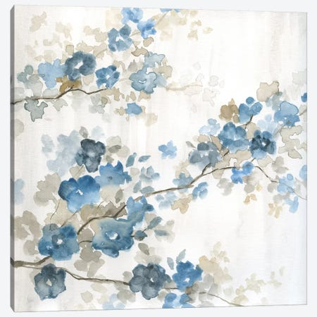 Dogwood in Blue I 3-Piece Canvas #NAN387} by Nan Canvas Wall Art