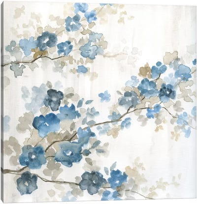 Dogwood in Blue I Canvas Art Print