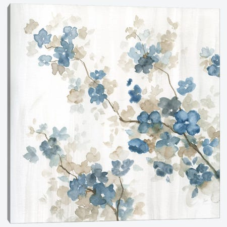 Dogwood in Blue II 3-Piece Canvas #NAN388} by Nan Art Print