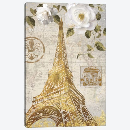 Le Jardin Eiffel Canvas Print #NAN38} by Nan Canvas Artwork
