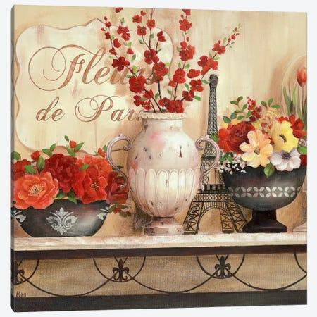 Fleurs de Paris Canvas Print #NAN395} by Nan Canvas Art Print