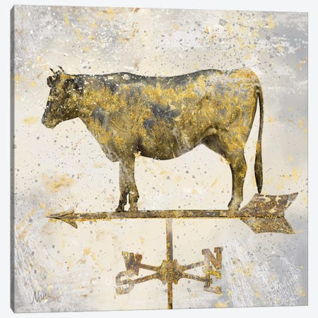 Americana Cow Canvas Print #NAN3} by Nan Art Print