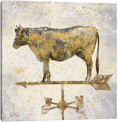 Americana Cow Canvas Art Print