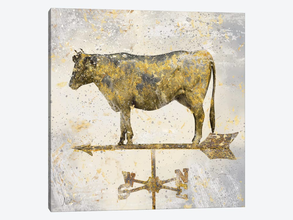Americana Cow by Nan 1-piece Canvas Artwork
