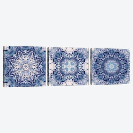 Indigo Gem Kaleidoscope Triptych Canvas Print Set #NAN3HSET002} by Nan Art Print