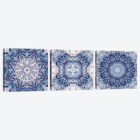 Indigo Gem Kaleidoscope Triptych Canvas Print Set #NAN3HSET002} by Nan Art Print