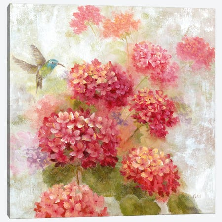 Hummingbird Garden I Canvas Print #NAN408} by Nan Canvas Artwork