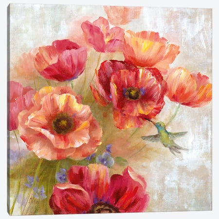 Hummingbird Garden II 3-Piece Canvas #NAN409} by Nan Canvas Wall Art
