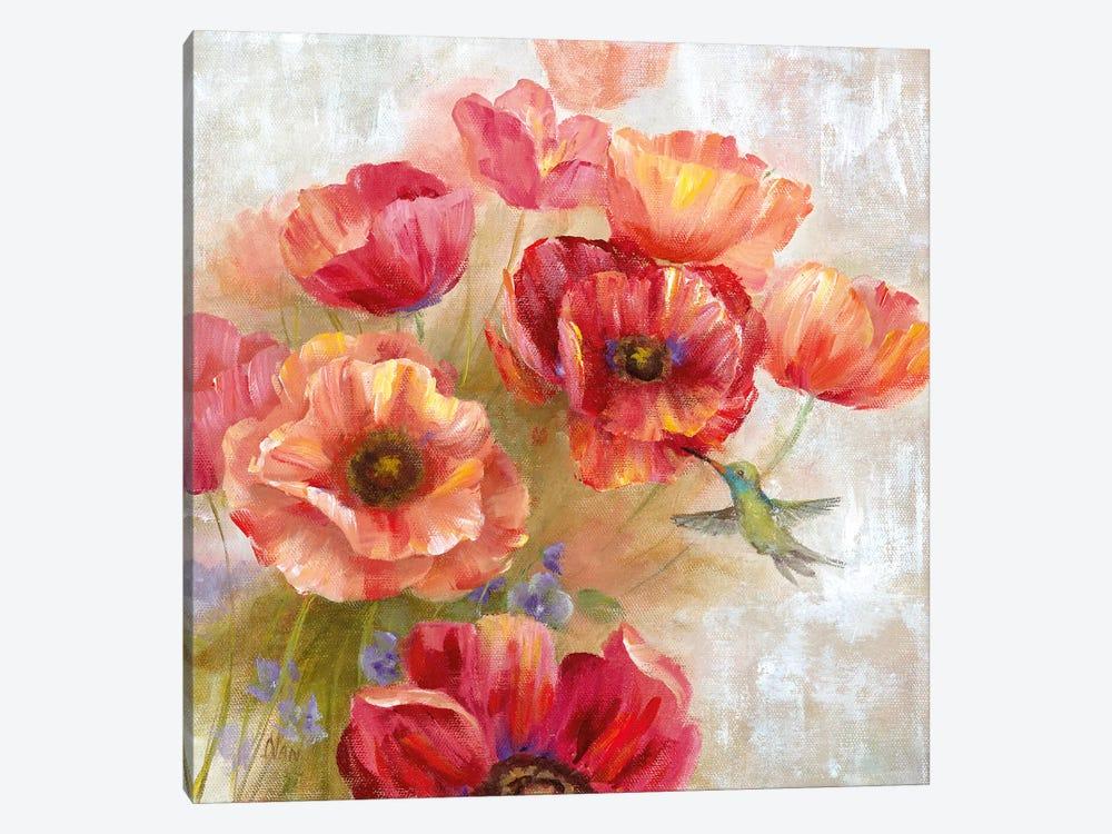 Hummingbird Garden II by Nan 1-piece Canvas Art