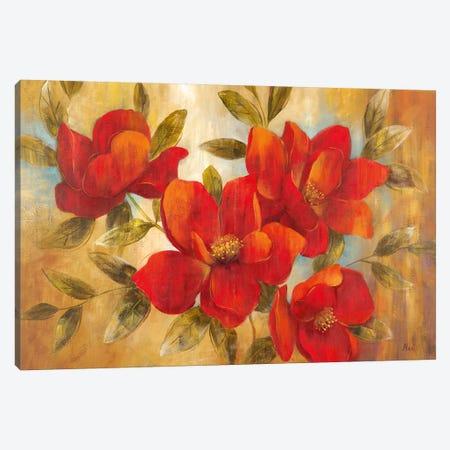 Jardin Rouge II 3-Piece Canvas #NAN415} by Nan Canvas Art