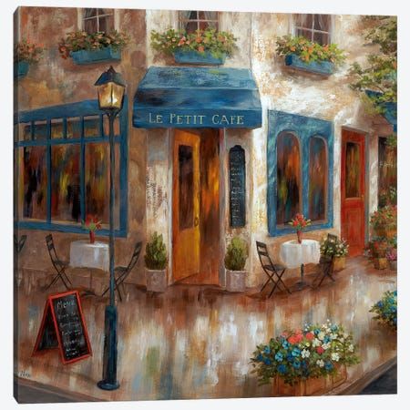 Le Petit Café Canvas Print #NAN419} by Nan Art Print