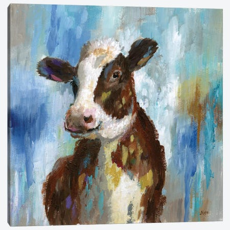 Spring Calf Canvas Print #NAN42} by Nan Art Print