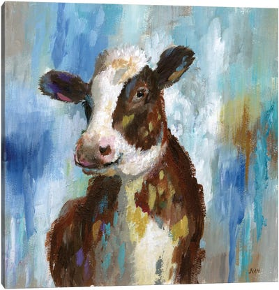 Spring Calf Canvas Art Print