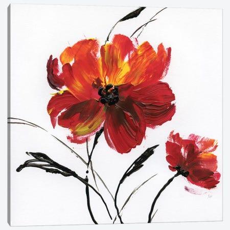 Red Poppy Splash III Canvas Print #NAN437} by Nan Canvas Wall Art