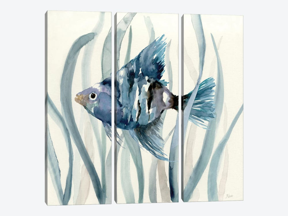 Fish in Seagrass II by Nan 3-piece Canvas Print