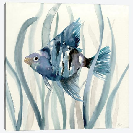 Fish in Seagrass II 3-Piece Canvas #NAN45} by Nan Canvas Artwork