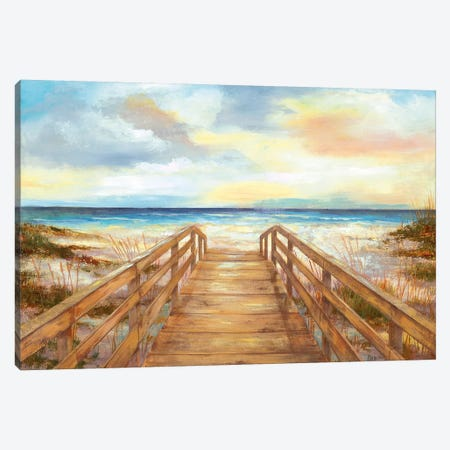 Walk to the Beach 3-Piece Canvas #NAN470} by Nan Canvas Print