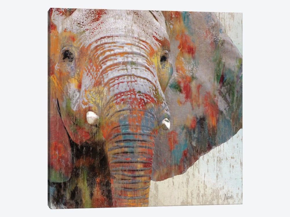 Paint Splash Elephant by Nan 1-piece Canvas Print