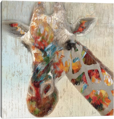 Paint Splash Giraffe Canvas Art Print