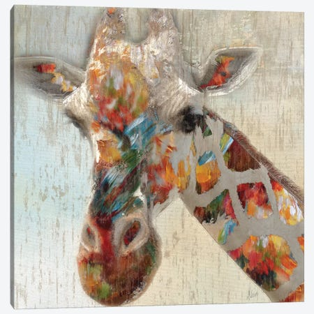 Paint Splash Giraffe Canvas Print #NAN48} by Nan Art Print