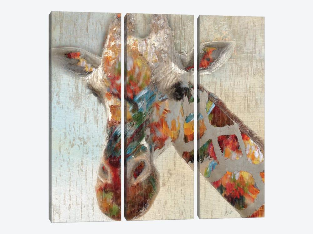 Paint Splash Giraffe by Nan 3-piece Canvas Wall Art