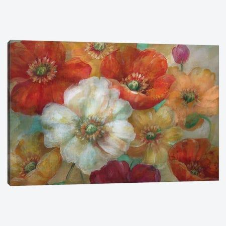 Poppycentric 3-Piece Canvas #NAN492} by Nan Canvas Art Print