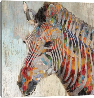 Paint Splash Zebra Canvas Art Print