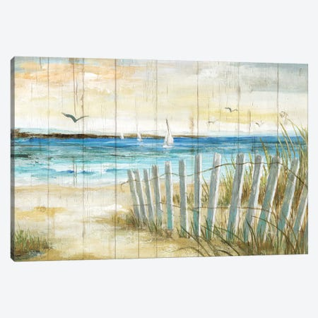 Coastal Causeway Canvas Print #NAN506} by Nan Canvas Artwork