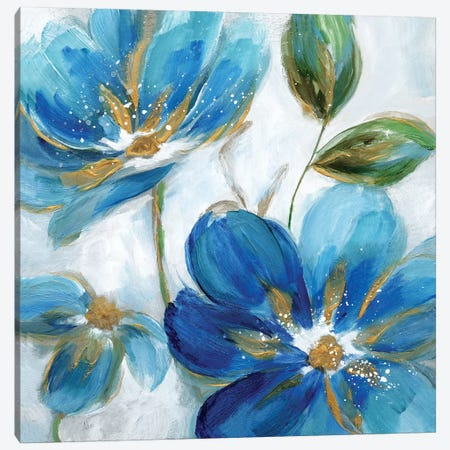 Flowering Blues II Canvas Print #NAN513} by Nan Canvas Wall Art