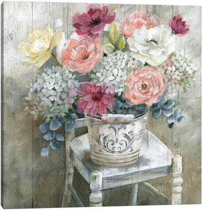 Quaint Cottage Bouquet Canvas Art Print