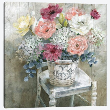Quaint Cottage Bouquet Canvas Print #NAN519} by Nan Canvas Art