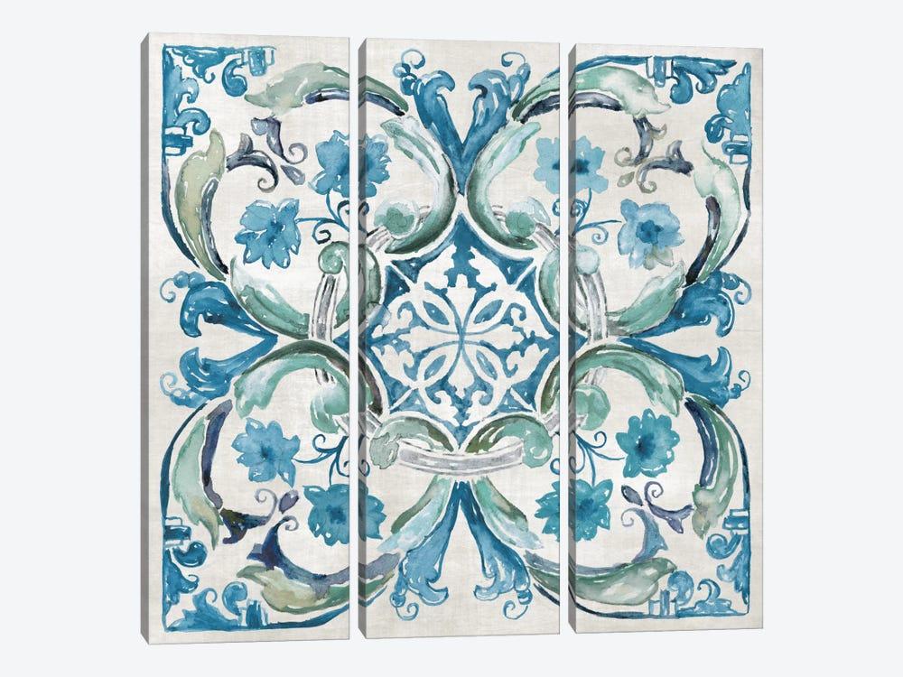 Caribbean Tile I by Nan 3-piece Art Print