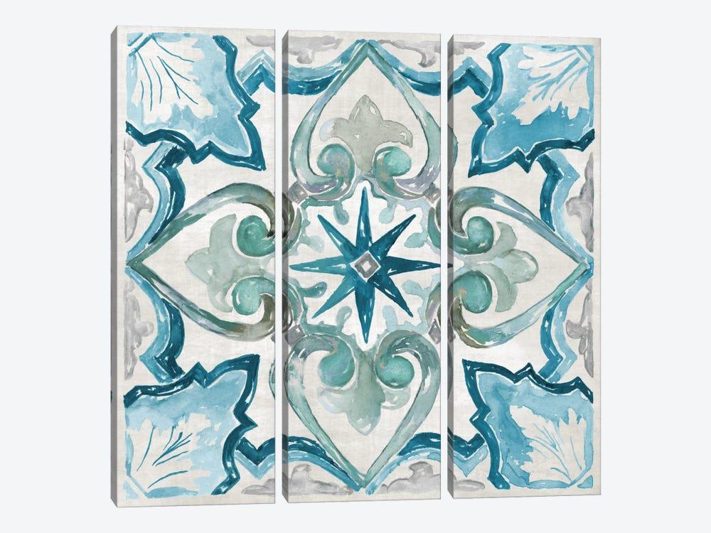 Caribbean Tile II by Nan 3-piece Canvas Artwork