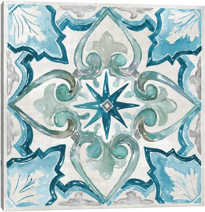 Caribbean Tile II Canvas Art Print