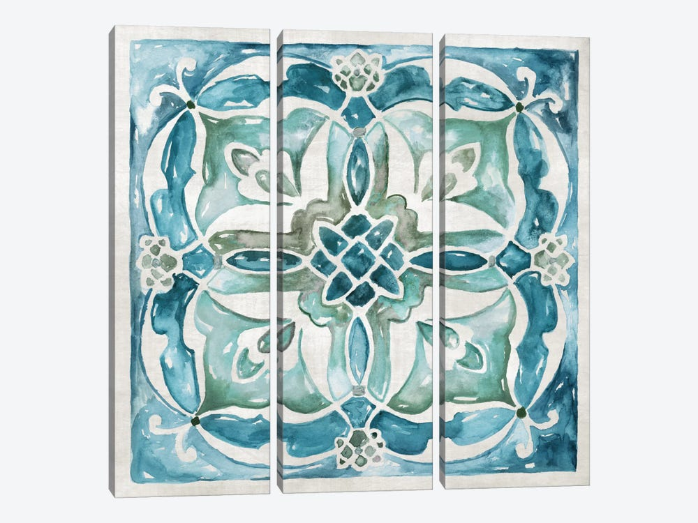 Caribbean Tile III by Nan 3-piece Art Print