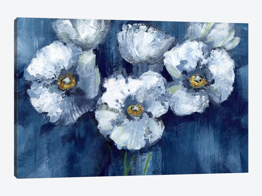 Blooming Poppies by Nan 1-piece Canvas Artwork