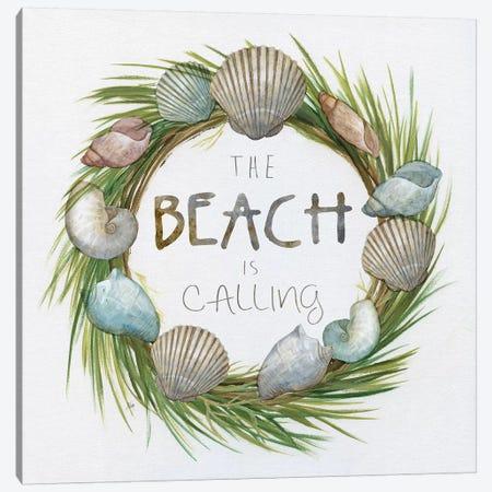 Beach Is Calling Canvas Print #NAN560} by Nan Art Print