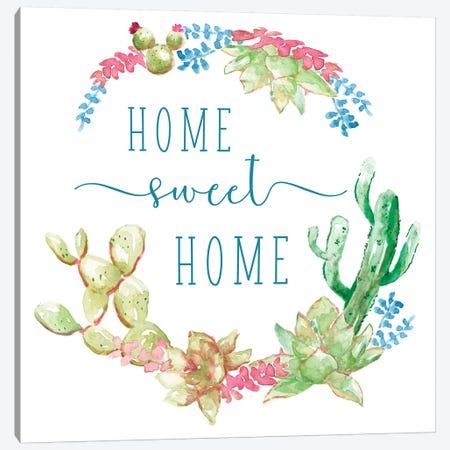 Cactus Vignette Wreath Canvas Print #NAN562} by Nan Canvas Art Print