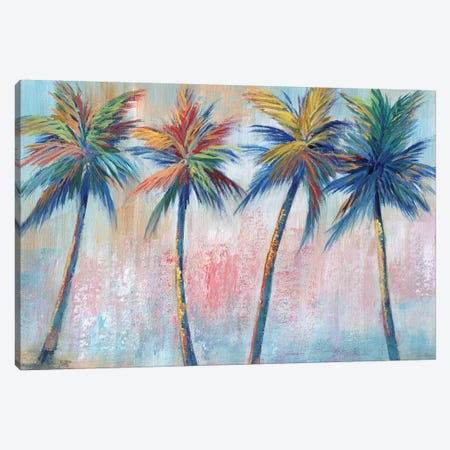 Color Pop Palms Canvas Print #NAN563} by Nan Canvas Print